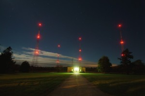 radio tower lights